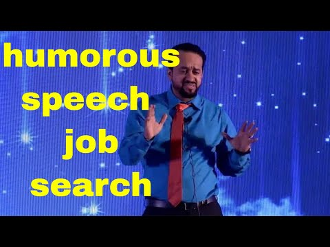 Humerous speech( Job Search). District 105  contest . Faiz AL Mamari