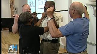Demonstration of a Slave Collar - Historian Anthony Cohen