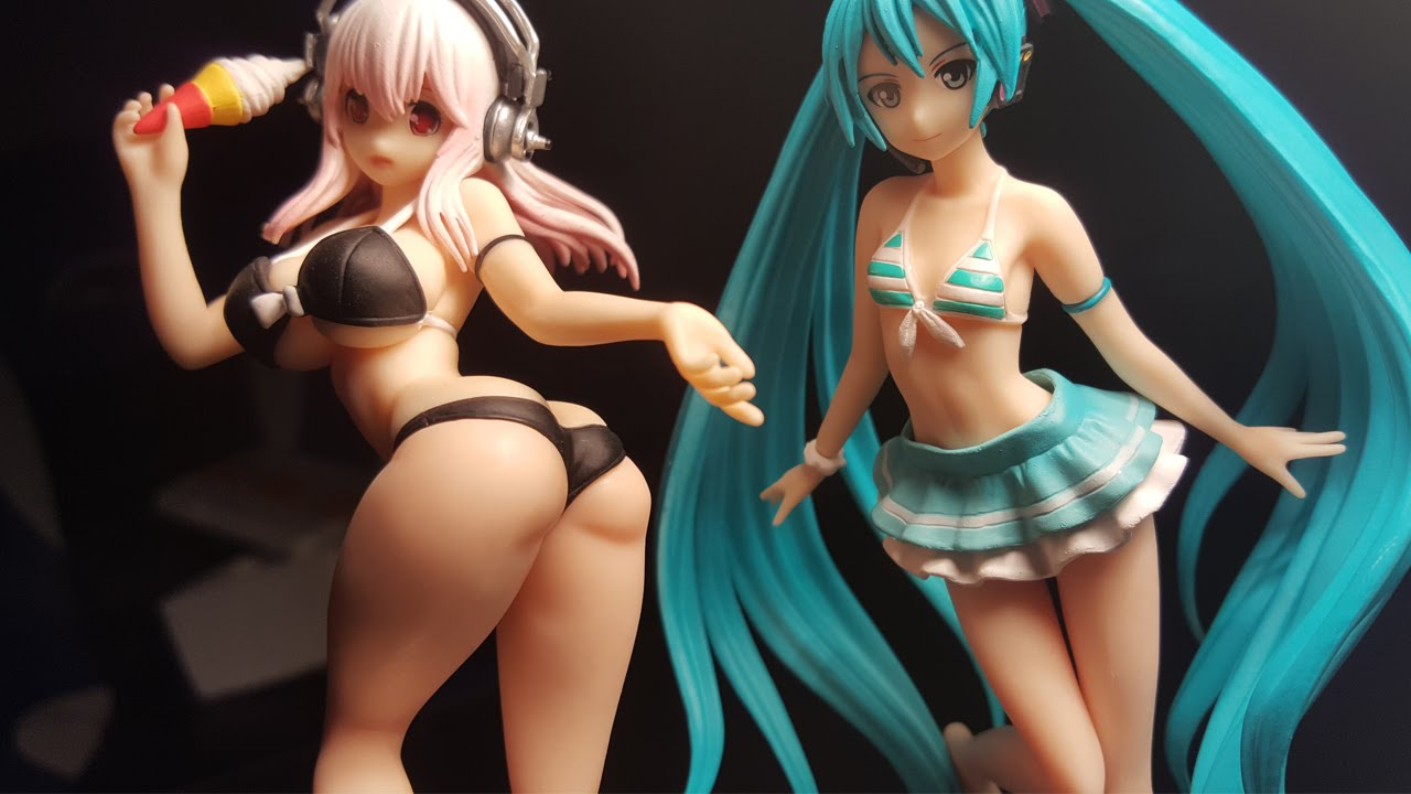 Unboxing Anime Figures Sexy Super Sonico Hatsune Miku Swimsuit Review Ebay Finds Part