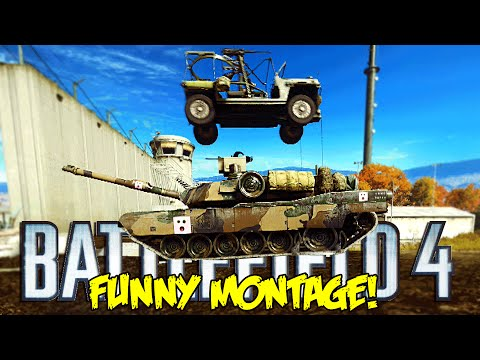Battlefield 4 Funny Montage!  Jeep C4 Rage, Poking enemys , Azzy Magic FAIL (BF4 Funny Moments)