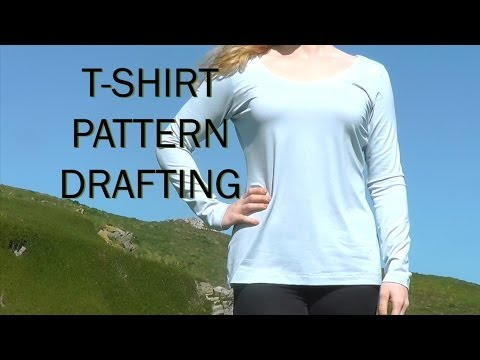 Basic T-shirt Pattern / Sewing Project Stretch Fabric / PATTERN DRAFTING TUTORIAL 1