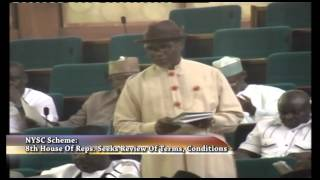 NYSC Scheme: 8TH House Of Reps. Seeks Review Of terms, Conditions