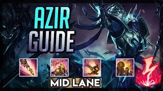 Azir Mid Lane Gameplay - Patch 9.24 (League of Legends Gameplay)