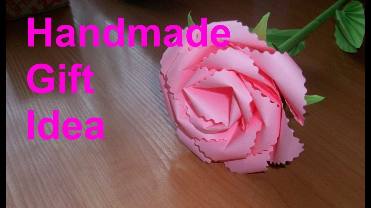 How To Make A Origami Rose With A4 Paper Tutorial Origami Handmade