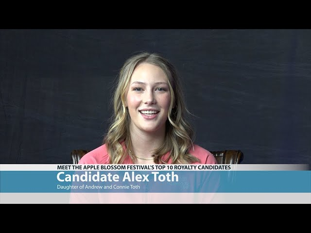 Apple Blossom Candidate Alex Toth