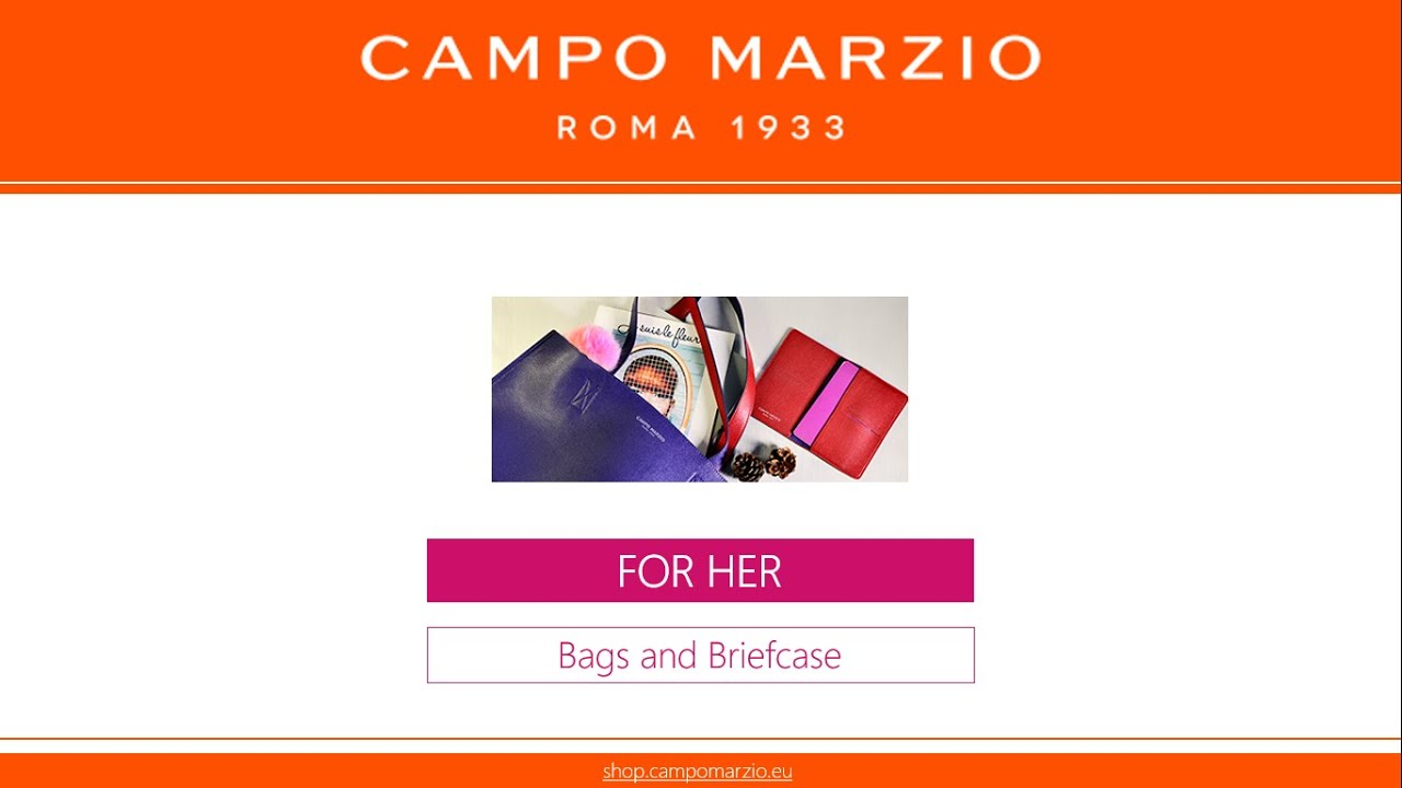 Campo Marzio - FOR HER 2016 - Bags and Briefcases - YouTube 071a4e3baab