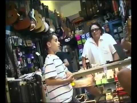 Brendan MacFarlane Shocks a Guitar Store Owner With His Amazing Singing Voice!