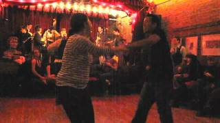 2009 Dec -  Cangelosi Cards Playing 12th Street Rag at Jalopy - George & Audrey Dancing