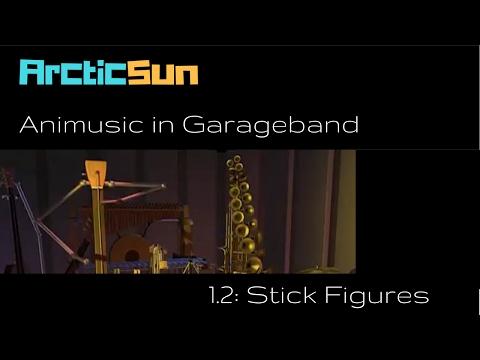 Animusic in Garageband - Stick Figures