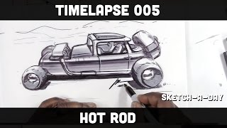 How to draw a Hot Rod in One Point Perspective (Bonus Video)