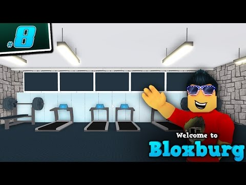 BUILDING A HOME GYM in Welcome to BloxBurg!! - Ep. 8 | Roblox
