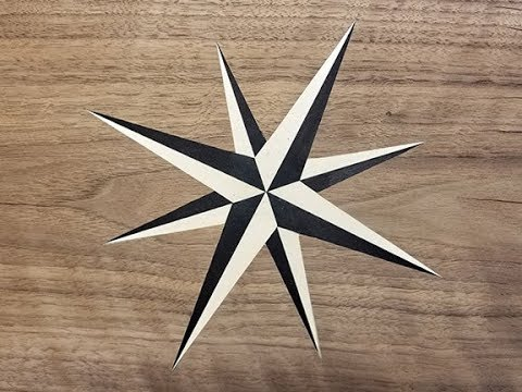 Nautical Star Layout and Veneer Inlay