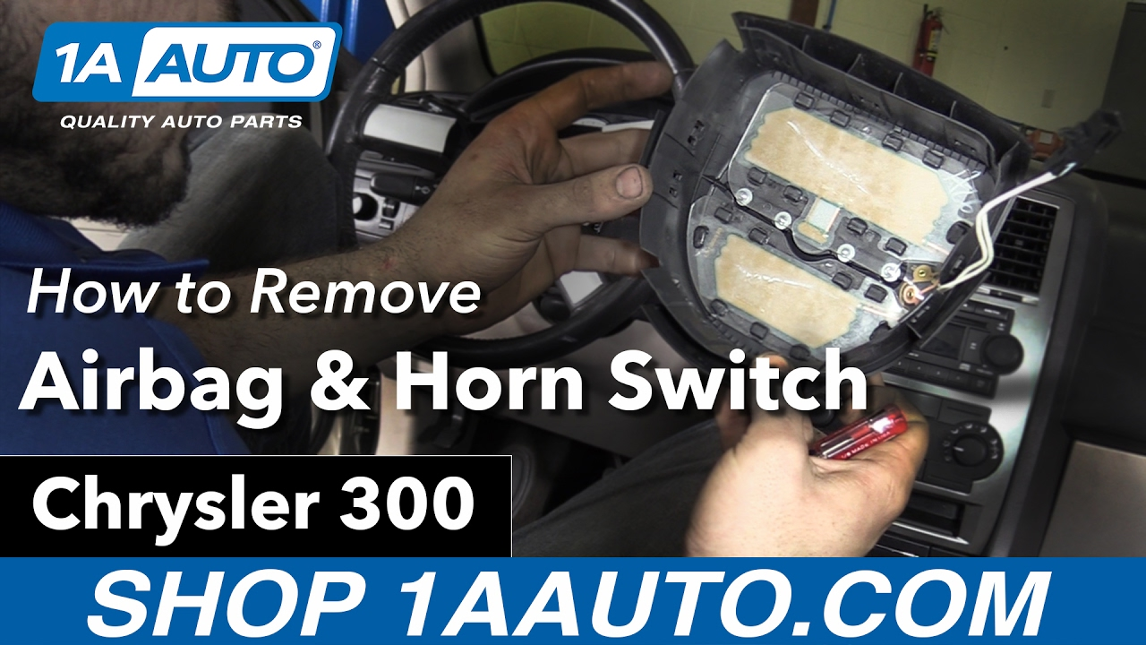 how to remove install airbag horn switch cover 06 chrysler 300 buy quality parts at 1aauto com youtube [ 1280 x 720 Pixel ]