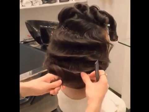 beautiful glam hairstyle