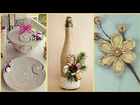 32 Beautiful Jute Craft Ideas || Jute Rope Baskets || Jute Bottles || Jute Flowers