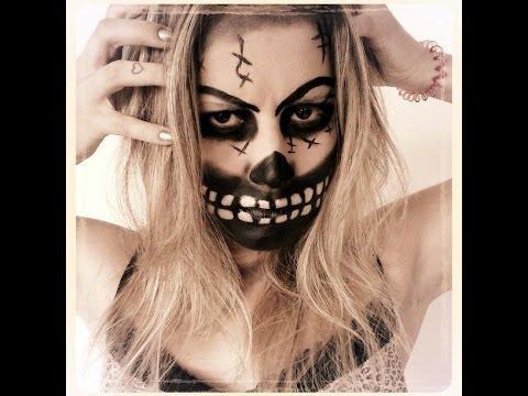 Maquiagem De Caveira Para O Halloween Dia Das Bruxas Lady Gaga