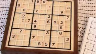 Deluxe Wooden Sudoku Game Board - 43359