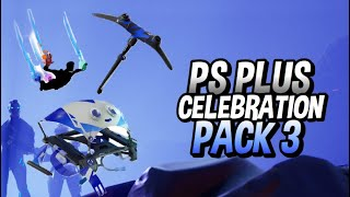 FORTNITE PS PLUS PACK 3 RELEASE DATE! How to Download PlayStation Celebration Pack 3!