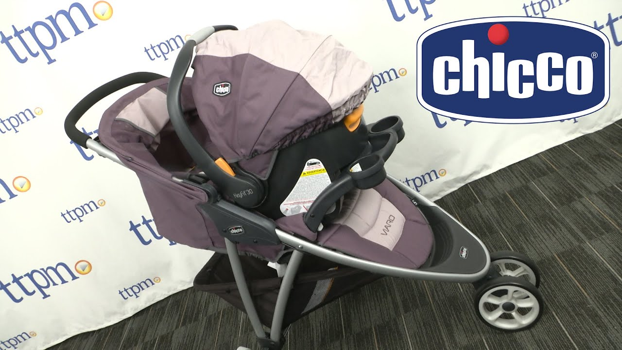 59bb86a11 Viaro Quick-Fold Travel System (Teak) from Chicco - YouTube