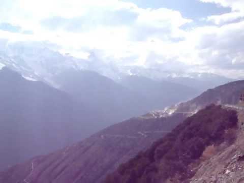 The Meili Xueshan Mountain Range as seen from Feilai Si village