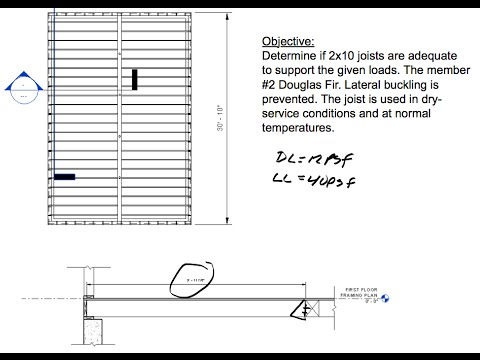 hqdefault joist design example of a floor joist system youtube