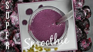 TASTY SMOOTHIE RECIPE WITH YOGURT AND FROZEN FRUIT, NUTS AND SO MUCH MORE