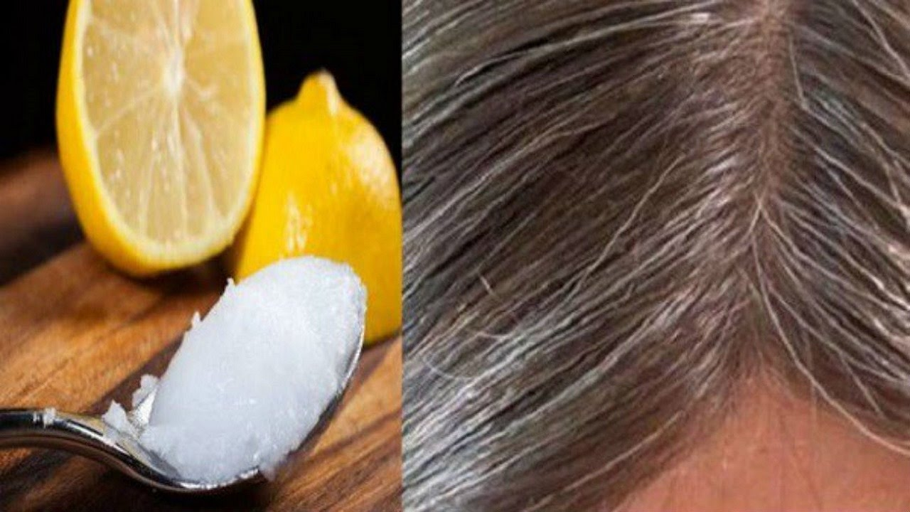 Coconut Oil And Lemon Mixture It Turns Gray Hair Back To Its