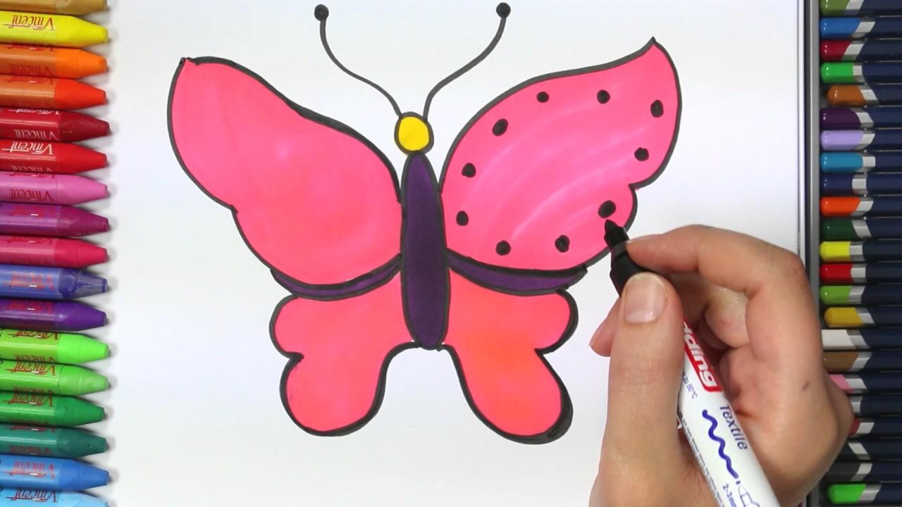 Una Mariposa Cómo Dibujar Y Colorear Paso A Paso Los Para Niños