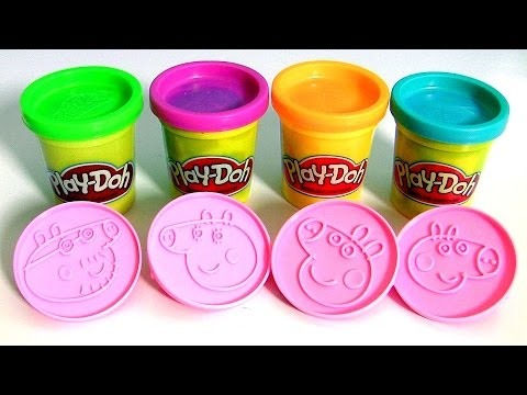 Thumbnail: Play Doh Peppa Pig Stampers Blind Bags Surprise - Super Massa Carimbos da Porquinha Peppa y Mamãe