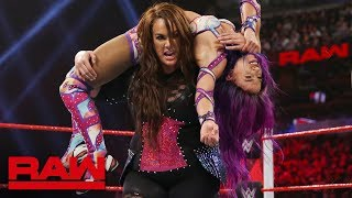 Sasha Banks vs. Nia Jax - Winner Challenges Rousey for the Raw Women's Title: Raw, Jan. 7, 2019