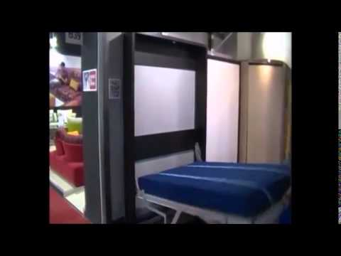 Letti a scomparsa - SPACE SAVING BEDS - MURPHY BED - YouTube
