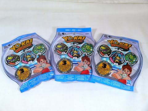 Unboxing: Yo-kai Watch Yo-kai Medal Mystery Blind Bag Series 1 (Opening #1)