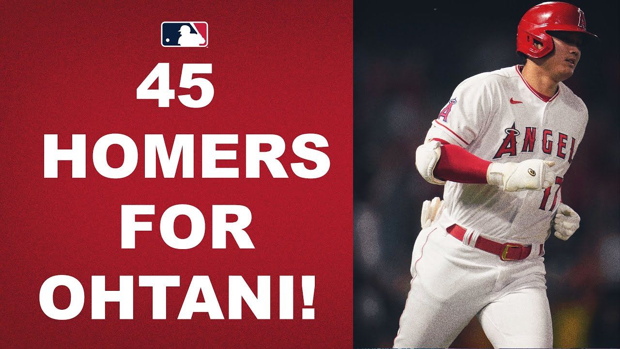 Download Shohei Ohtani DEMOLISHES his 45th HR of the season to put him 1 behind the MLB lead!