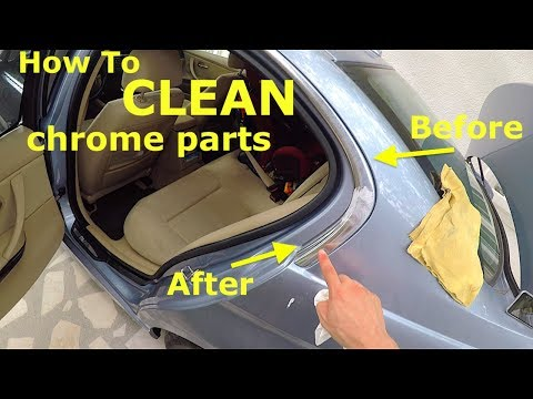 How to clean chrome parts on your car BMW e90 Lci with Quixx Paint Scratch Remover