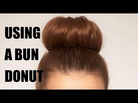 how to use a hair bun donut - photo #20