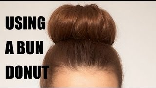 How to use a bun donut to create an updo.