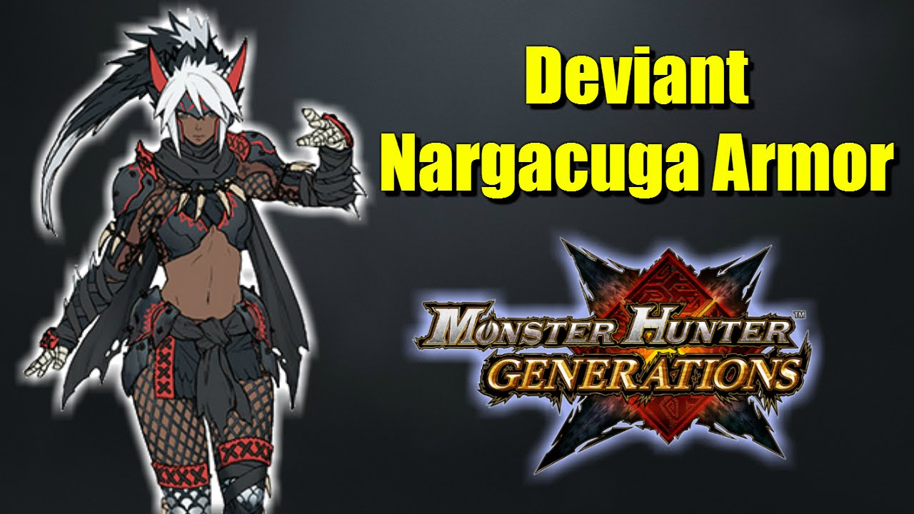 Monster Hunter Generations Silver Wind Nargacuga Armor Overview