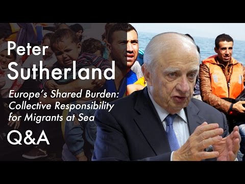 On the work of the International Organization for Migration and UNHCR | Peter Sutherland (2015)