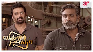 Vikram Vedha Action Scene | Madhavan learns the truth about his collegues | Vijay Sethupathi