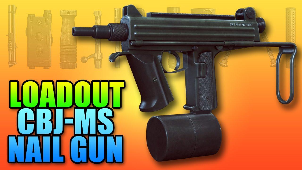 BF4 Loadout CBJ-MS Bob The Builder Nail Gun | Battlefield 4 PDW ...