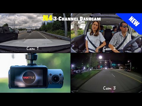 NEW Vantrue N4 3-Channel Dashcam Review - The World's First 3 HD Camera System