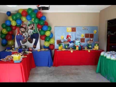 Mario Birthday Party Ideas Youtube