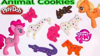 MLP Playdoh Animal Cookies Play-Doh Activities Bucket POP My Little Pony Pinkie Pie Toy Video