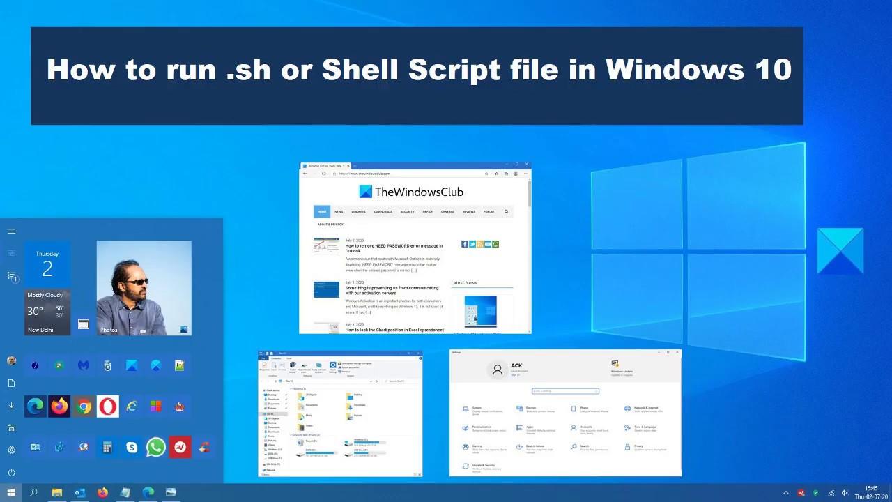 Cách Chạy Chương Trình Tập Lệnh Shell Trên Windows 10 - VERA STAR