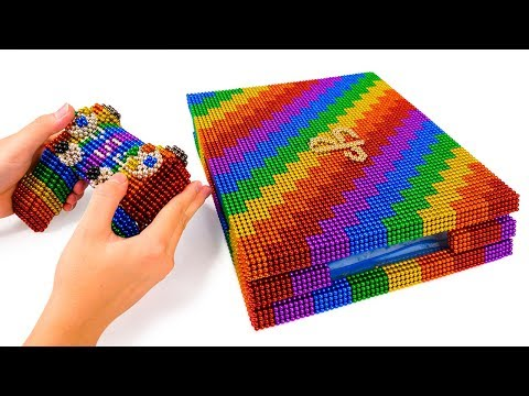 DIY - Build Amazing PS4 Game Console Model With Magnetic Balls (Satisfying) - Magnet Balls