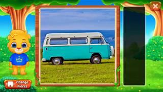 Собираем веселые пазлы в игре Puzzle kids уровень Photo puzzle #1