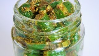 हिरव्या मिरचीचं लोणचं  | Green Chilli Pickle recipe by madhurasRecipe | Hari Mirch Ka Achar