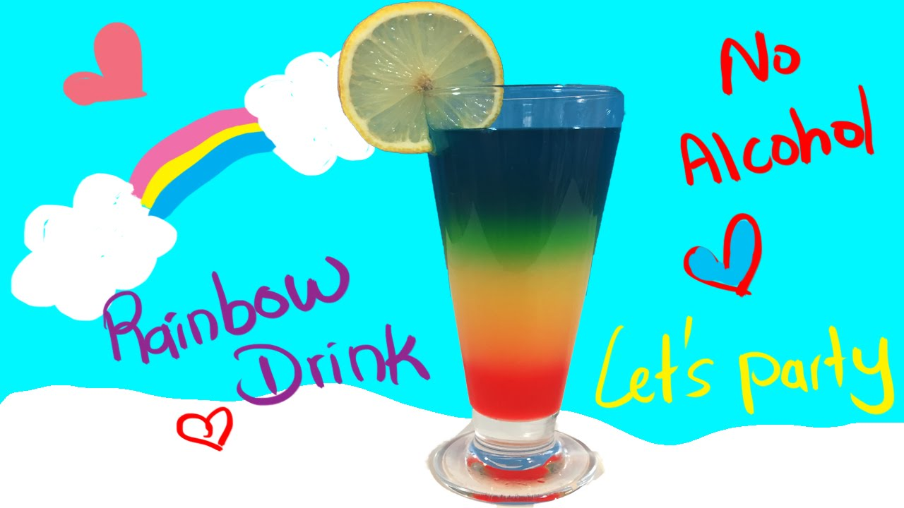 Attractive Kids Cocktail Party Ideas Part - 2: Rainbow Drink-Non-alcohol-Cocktail-For KIds-Awesome - YouTube
