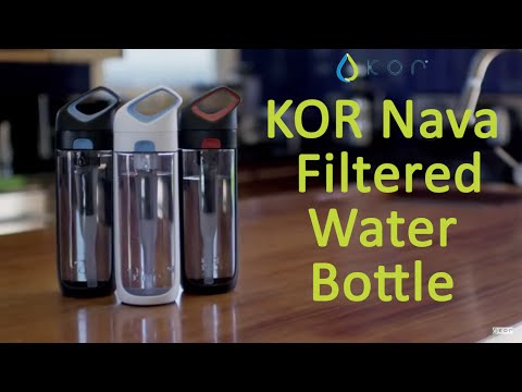 KOR Nava Filtered Reusable Bottle - Best Water Bottle BPA Free