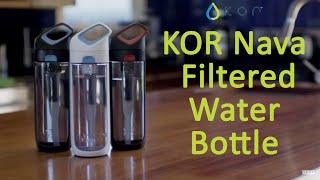KOR Nava Filtered Reusable Bottle - Best Water Bottle BPA Free